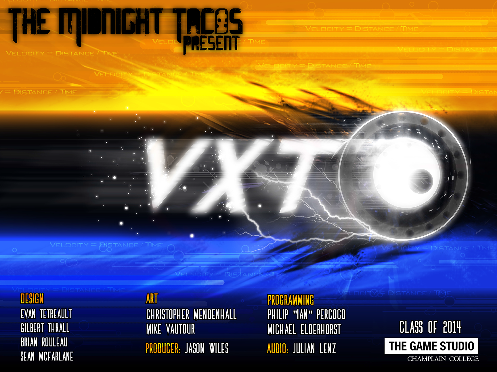 The game poster for VXT